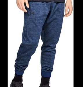 Under Armour blue heathered fleece lined joggers